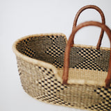 African Woven Moses Basket