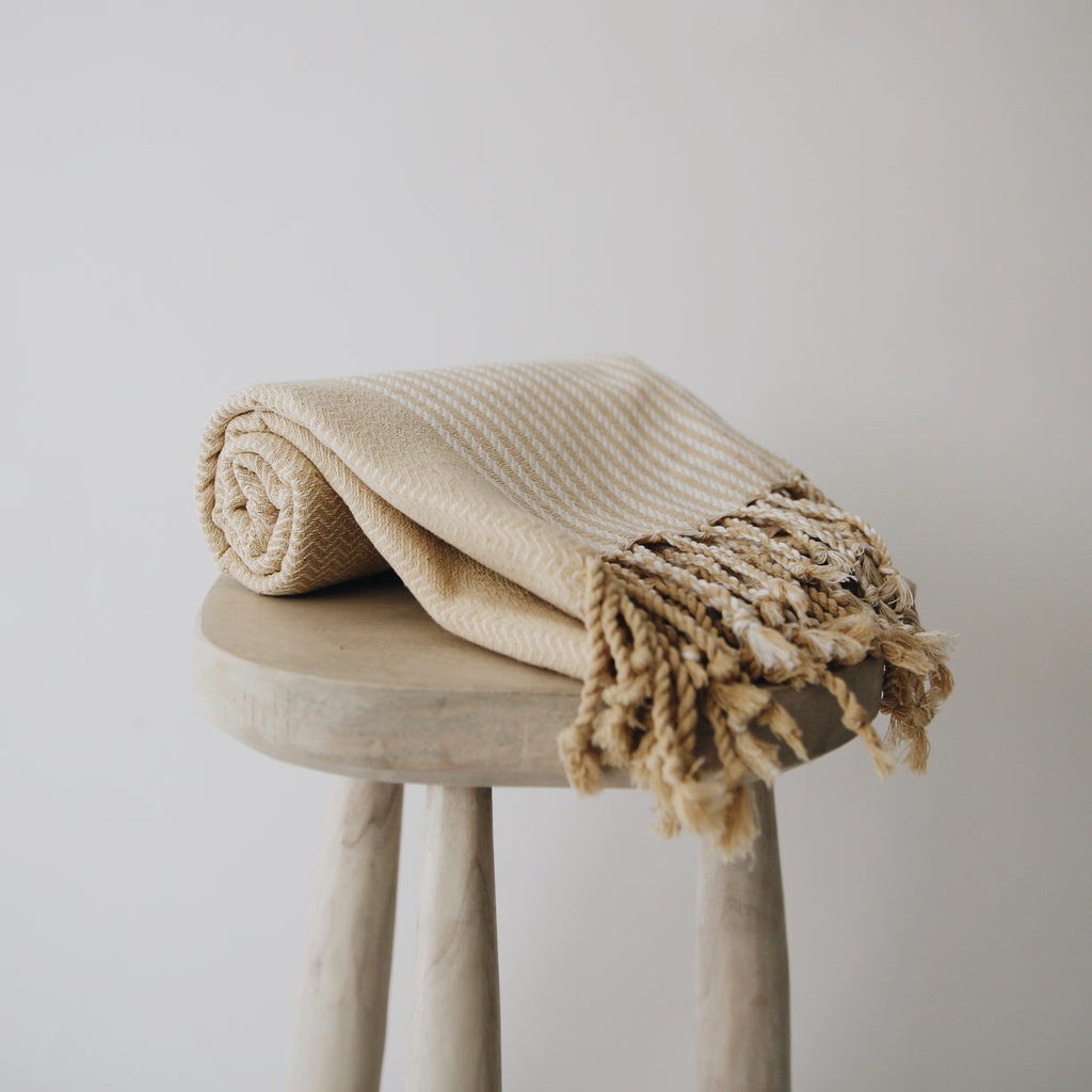 Sandy Patterned Turkish Towel