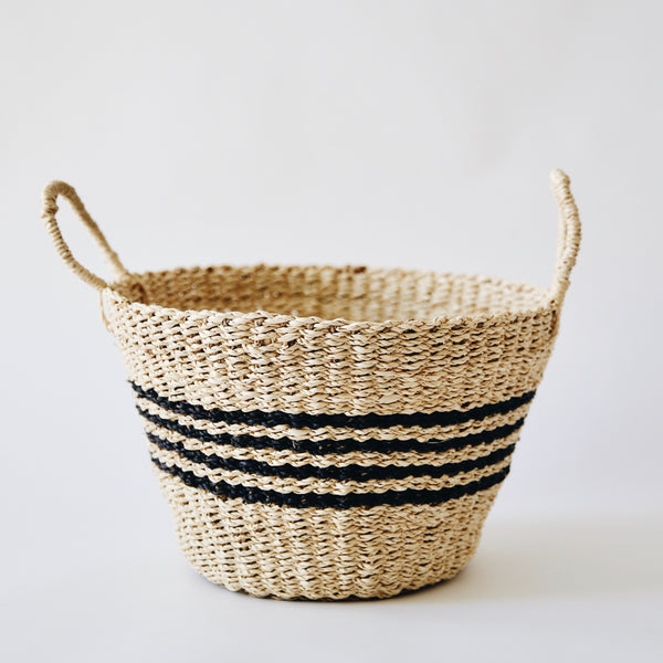 Woven Striped Baskets