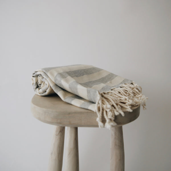 Cloudy Striped Turkish Towel