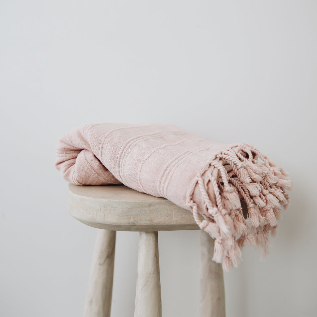 Rosy Stonewashed Turkish Towel
