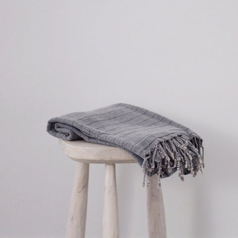 Ash Gray Soft Turkish Towel
