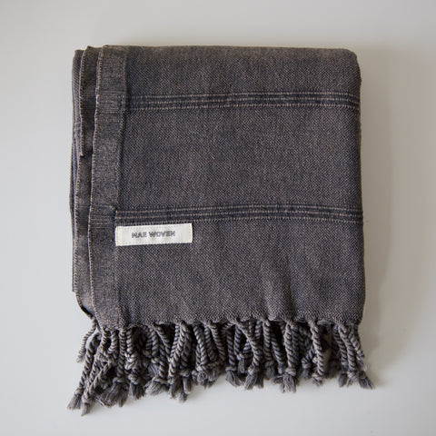 Charcoal Stonewashed Turkish Towel
