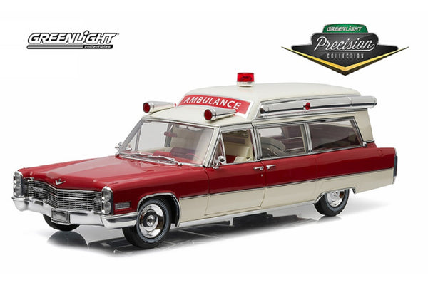 Cadillac AMBULANCE Diecast Hard Top 1966 1:18 Scale GREENLIGHT Limited Edition