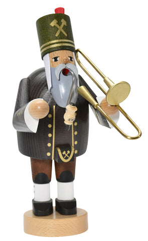 German Incense Smoker KWO Miner with TROMBONE Handmade Wood