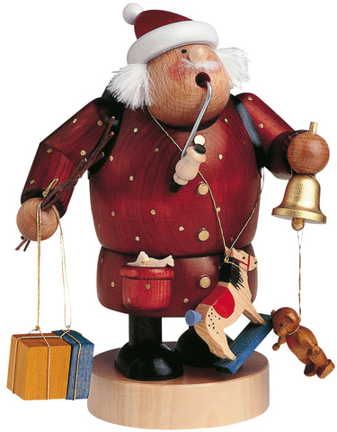 German Incense Smoker KWO CHRISTMAS Santa Claus Handmade Wood