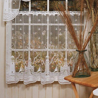 Heritage Lace LIGHTHOUSE Tier 60x30 White Made in USA