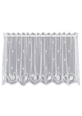 Heritage Lace TIDEPOOL Tier 60x30 White Made in USA