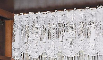 Heritage Lace LIGHTHOUSE Valance 60x15 White Made in USA