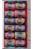 Embroidery Thread Fil au Chinois BRIGHT Tones CALAIS Cocoons #1 Set of 12 w/Box