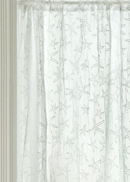 Heritage Lace STARFISH Sidelight 15x38 White Made in USA