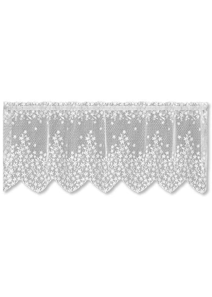 Heritage Lace BLOSSOM Valance 42x15 WHITE Made in USA