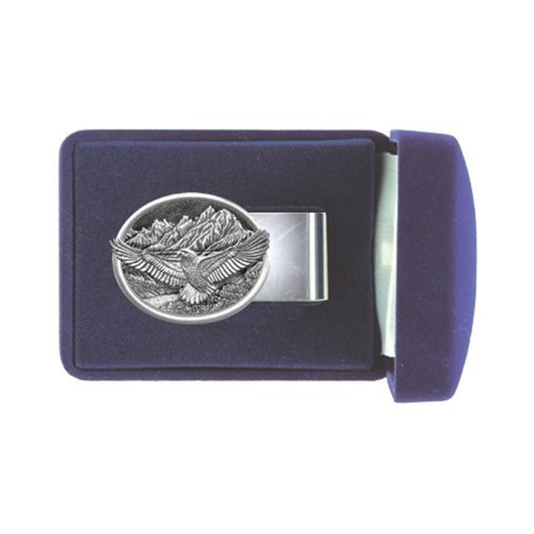 EAGLES Money Clip Solid PEWTER w/Gift Box
