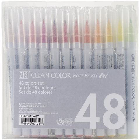 ZIG Markers REAL BRUSH Clean Color 48 pk