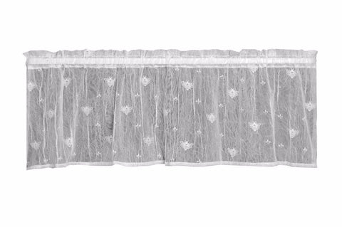 Heritage Lace BEE Valance 45x15 White Made in USA