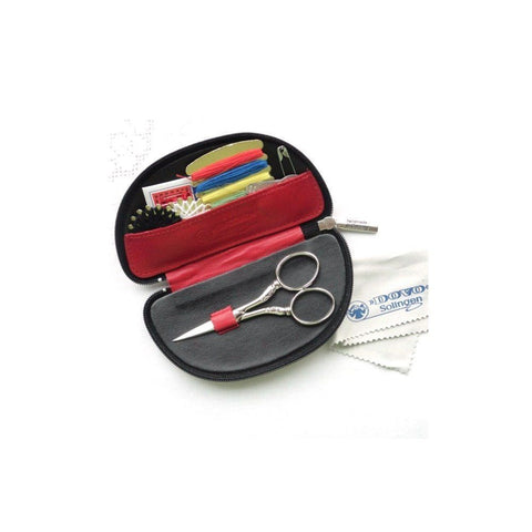 Dovo Sewing SET Stitching Set with Leather Case COMPACT Red