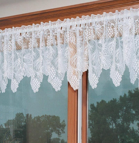 Heritage Lace WOODLAND Valance 60x16 WHITE Made in USA