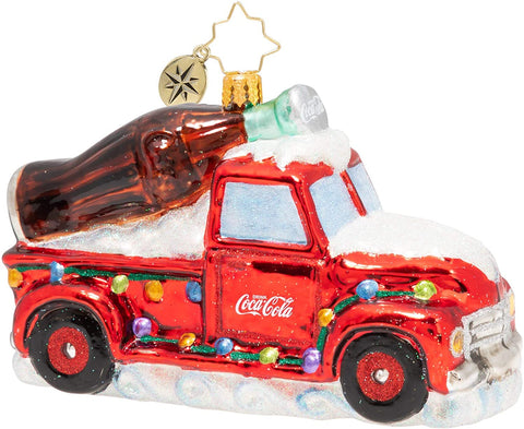 Christopher Radko Christmas Ornament A Coca Cola Celebration Glass
