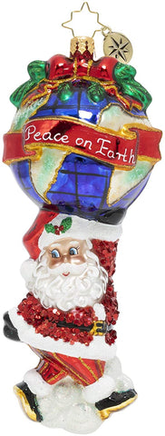 Christopher Radko Christmas Ornament A World of Peace Glass