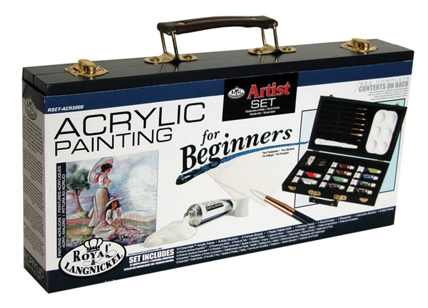 Royal & Langnickel Acrylic Art Set Beginner, 25 Pieces