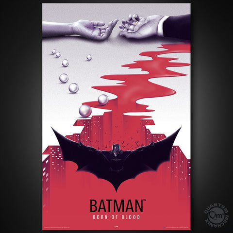Batman BORN of BLOOD Art Print Poster QUANTUM Mechanix DC Comics 24x36