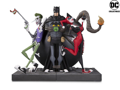 Batman Joker and Harley Bookends Statue Limited Edition 9""