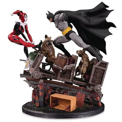 Batman vs Harley Quinn Battle Second Edition Statue DC Collectibles 17.5""