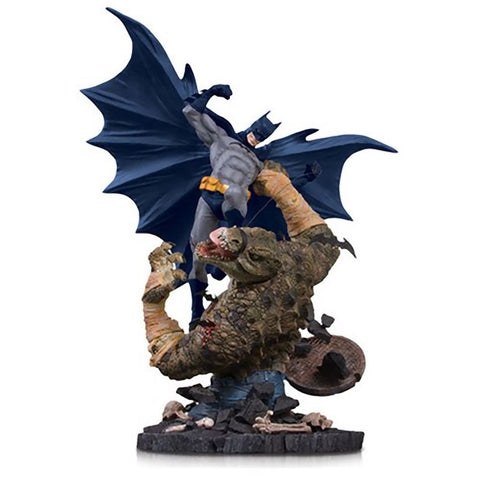 Batman vs Killer Croc Mini Battle Statue DC Collectibles 8""