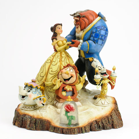 Disney Traditions Jim Shore Beauty and Beast Enesco Tale as Old as Time 7.75""