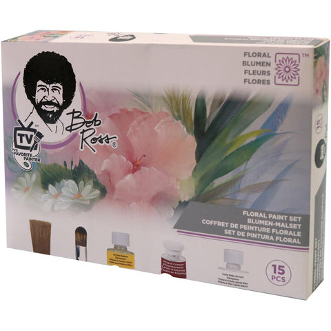 Bob Ross Flower Paint Set 15 pcs