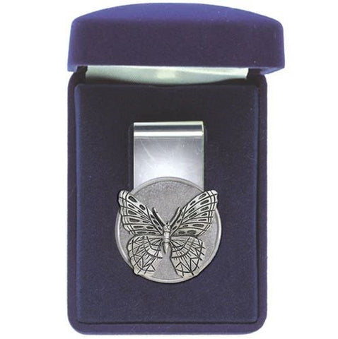 Butterfly Money Clip Solid Pewter w/Gift Box