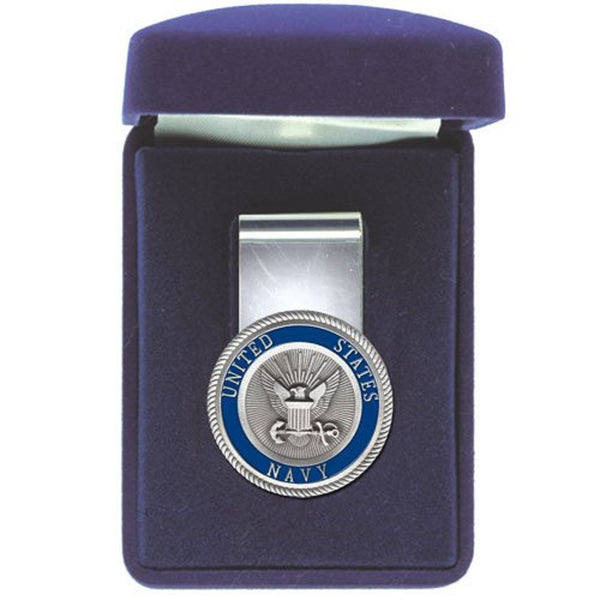 Coast Guard Money Clip Solid PEWTER w/Gift Box
