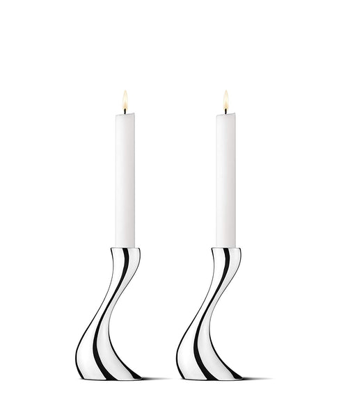 Georg Jensen Candleholder COBRA Set 2 Pcs Small 6.3""