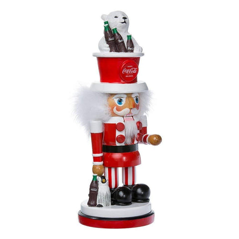 Kurt Adler Coca Cola Nutcracker Hollywood with Polar Bear Hat 15""