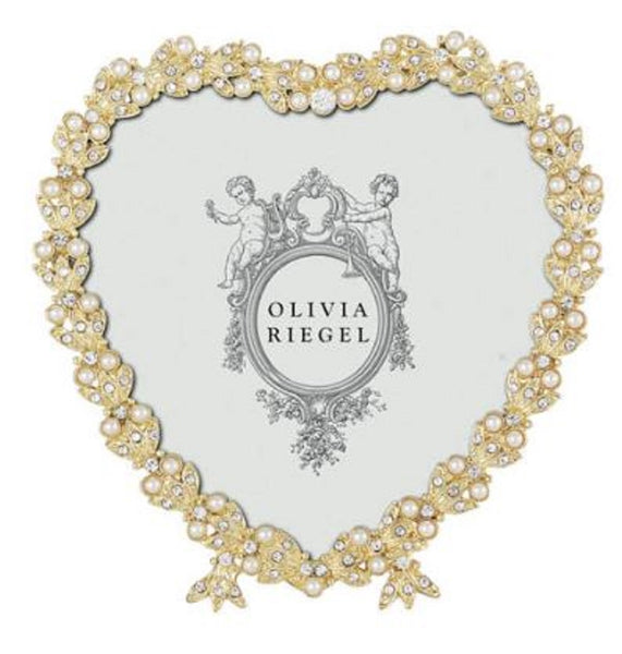 "Olivia Riegel Contessa Frame Heart 3-1/2"" Gold"