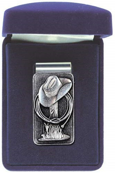 Cowboy Hat Money Clip Solid PEWTER w/Gift Box