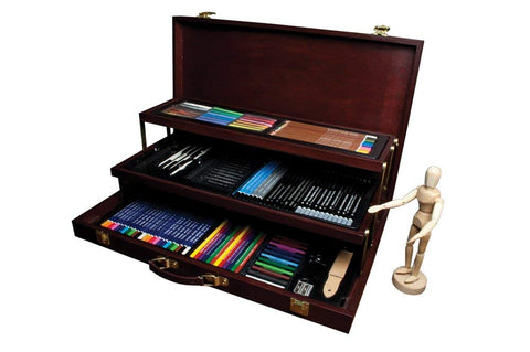 Royal & Langnickel DELUXE Sketching and Drawing Chest Set 134 Pieces