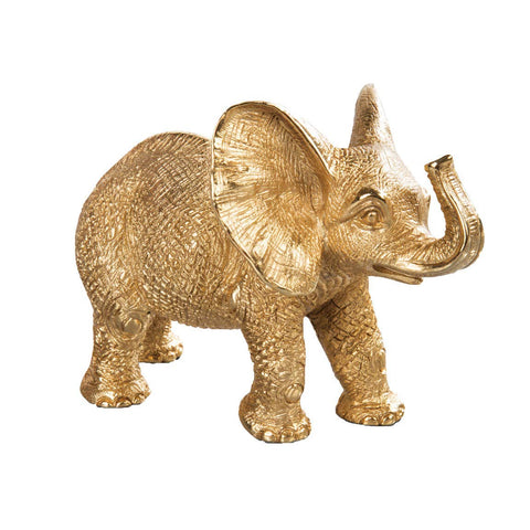 Jay Strongwater EFFIE Elephant Figurine 18k Gold