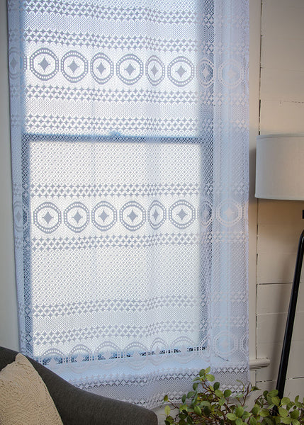 Heritage Lace PANEL Eureka 48x63 WHITE Made in USA
