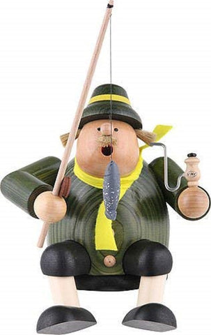 German Incense Smoker KWO Fisherman Handmade Wood
