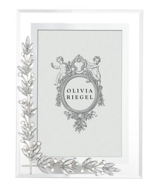 Olivia Riegel Photo Frame Laurel 4x6 Silver