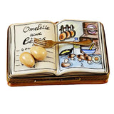 Rochard Limoges COOKBOOK Omelet Trinket Box