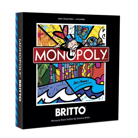 Monopoly Miami Limited Edition, Romero Britto Signed and Numbered