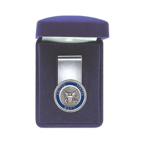 Navy Money Clip Solid PEWTER w/Gift Box