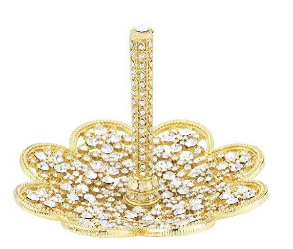 Olivia Riegel Ring Holder Gold Princess April Birthstone