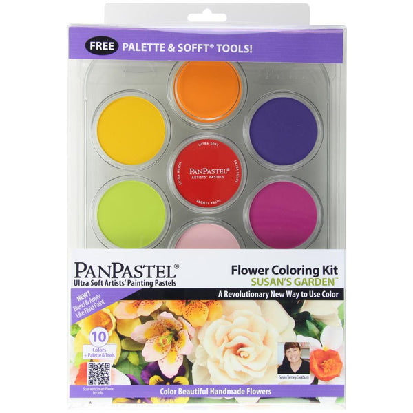 Colorfin PANPASTEL Artist Pastel Set Ultra Soft 9ml/10pkg Flower Coloring