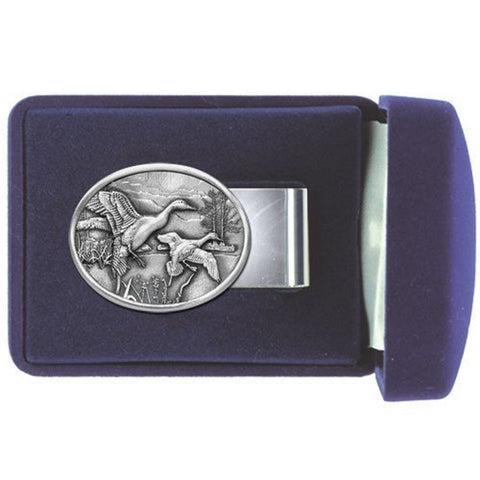 PINTAIL DUCKS Money Clip Solid PEWTER w/Gift Box