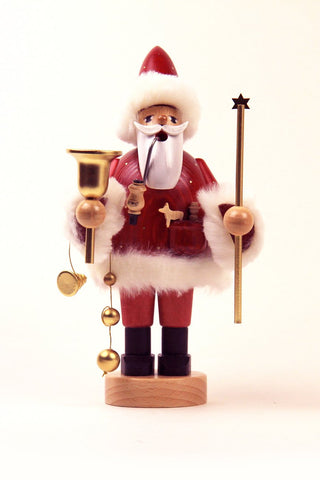 German Incense Smoker KWO Christmas SANTA Claus Red Handmade Wood