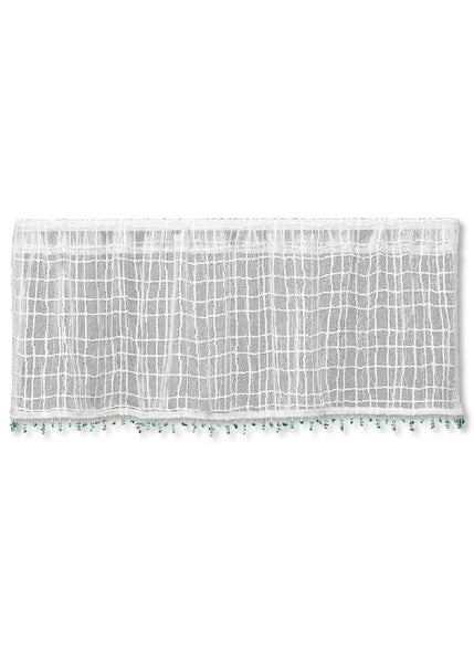 Heritage Lace SEACOAST Valance with Trim 45x15 White Made in USA