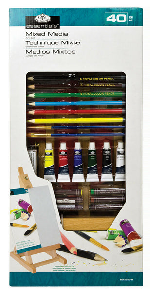 Royal & Langnickel Easel Small Mixed Media H Set 40 pieces